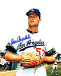 Don Drysdale Autographed / Signed Posing 8x10