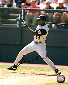 Adrian Brown Autographed / Signed Hitting 8x10 Photo