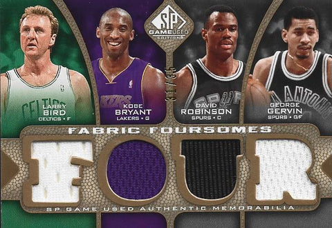 Larry Bird / Kobe Bryant / David Robinson / George Gervin 2009 SP Jersey Card#31/35
