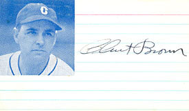 Clint Brown Autograph/Signed 3x5 Postcard