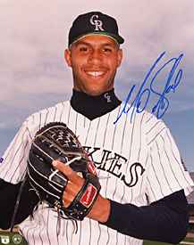 Mo Sanford Autographed / Signed Colorado Rockies Baseball 8x10 Photo