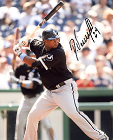 Dayan Viciedo Autographed / Signed About to Hit 8x10 Photo