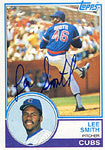 Lee Smith Autographed / Signed 1983 Topps No.699 Baseball Card