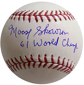 Moose Skowron 61 World Champs Autographed / Signed Baseball - New York Yankees