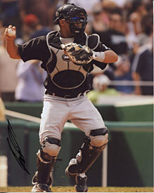 Ronny Paulino Autographed / Signed Florida Marlins 8x10 Photo