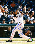 Pedro Feliz Autographed / Signed Hitting 8x10 Photo