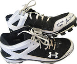 Logan Morrison Game Used 2010 Autographed / Signed Game Used Under Armour Plastic Cleats