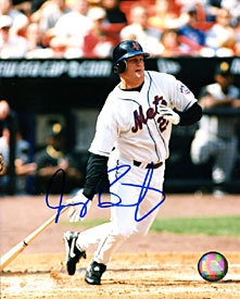 Jeremy Burnitz Autographed / Signed Hitting 8x10 Photo