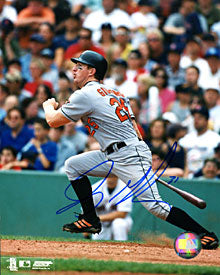Jay Gibbons Autographed / Signed Hitting 8x10 Photo