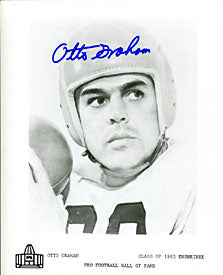 Otto Graham Autographed / Signed Hall of Fame 8x10 Photo