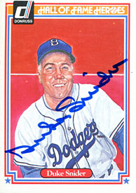 Duke Snider Autographed / Signed 1983 Donruss HOF Card
