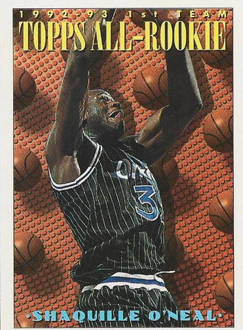 Shaquille O'Neal 1993 Topps All-Rookie Card