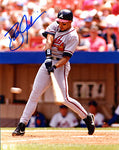 Dave Justice Autographed / Signed Hitting 8x10 Photo