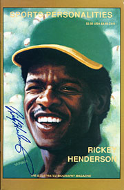 Rickey Henderson Autographed / Signed Sports Personalities Magazine