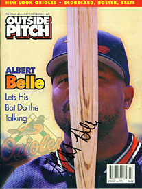 Albert Belle Autographed / Signed Outside Pitch Magazine