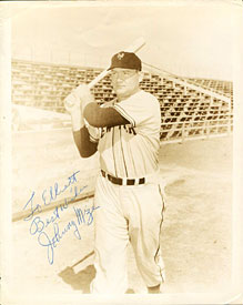 Johnny Mize Autographed/Signed 8x10 Photo