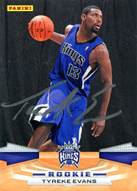 Tyreke Evans Autographed / Signed 2009 Panini Rookie Card