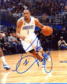 Gilbert Arenas Autographed / Signed Dribbling 8x10 Photo