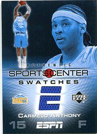 Carmelo Anthony Unsigned 2005 Upper Deck Jersey Card