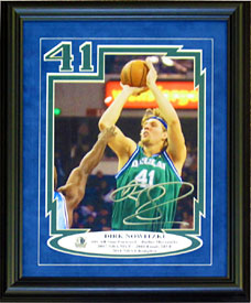 Dirk Nowitzki Autographed / Signed Framed 8x10 Photo