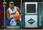 Jermaine O'Neal Autographed / Signed 2008-2009 Panini Limited Material Monikers Card