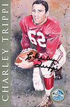 Charley Trippi Autographed / Signed Hall of Fame 4x6 Card