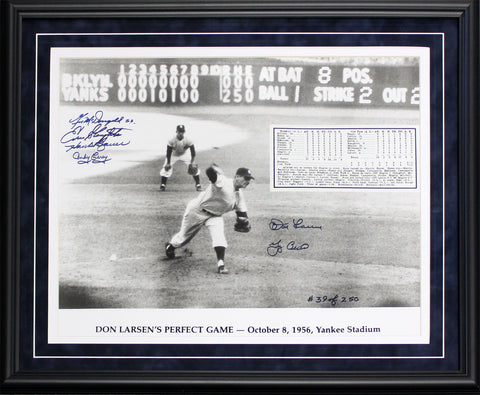 Don Larsen & Yogi Berra World Series Perfect Game Autographed Framed 16x20 Photo (JSA)