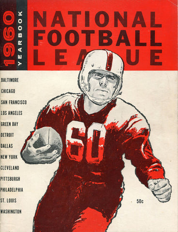 1960 National Football League Unsigned Yearbook