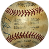 1970 All Star Autographed Baseball Reverse Sweet Spot