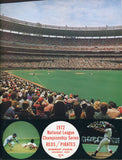 1972 National League Championship Game 4 Program with Game 4 Ticket