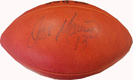 Dan Marino Autographed / Signed 75th Anniversary Official NFL Football (James Spence)