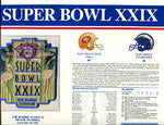 Super Bowl 29 Patch and Game Details Card