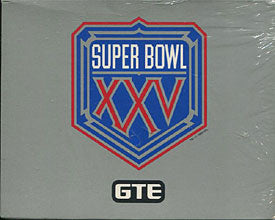 Super Bowl 25 Limited Edition Theme Art Cards