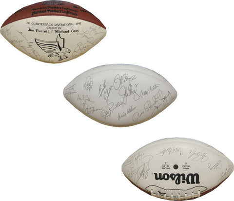 NFL Greats Unsigned White Panel Football