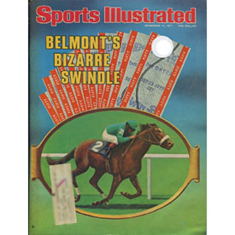 Belmont's Bizare Swindle November 14 1977 Sports Illustrated