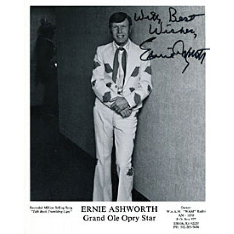 Ernie Ashworth Autographed / Signed 8x10 Photo