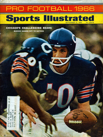 Rudy Bukich Unsigned September 1966 Sports Illustrated Magazine