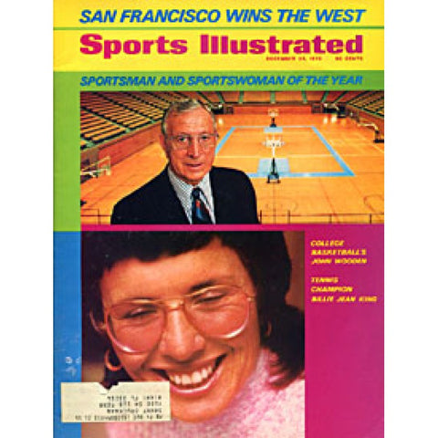 John Wooden & Billie Jean King Unsigned Sports Illustrated Magazine