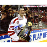 Colby Cohen Autographed / Signed Holding NCAA National Champion Trophy 8x10 Photo