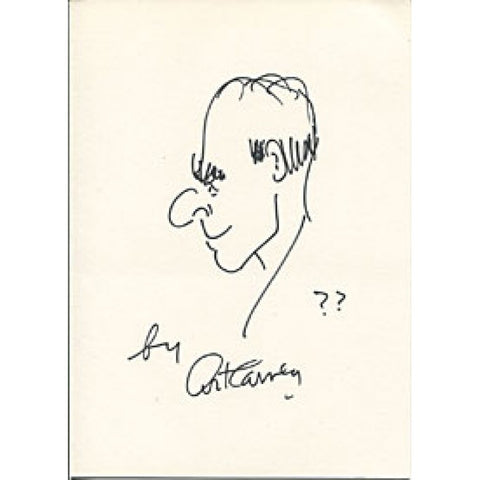 Art Carney Autographed/Signed 8x10 Drawing