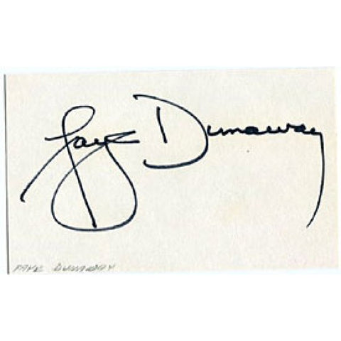 Faye Dunaway Autographed/Signed 3x5 Card
