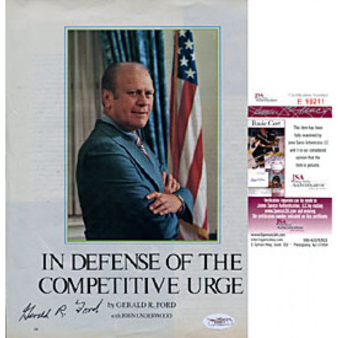 Gerald Ford Autographed / Signed Magazine Cover (James Spence)