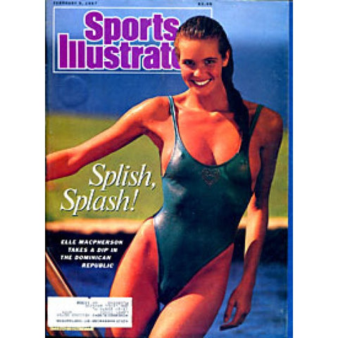 Elle Macpherson Unsigned Sports Illustrated Magazine - February 9 1987