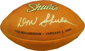 Don Shula Autographed / Signed Shula's The Millennium Football (JSA)