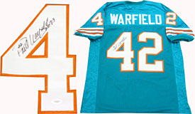 Paul Warfield HOF 83 Autographed / Signed Miami Dolphins Jersey (JSA)