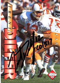 Trent Dilfer Autographed / Signed 1995 Collectors Edge Card
