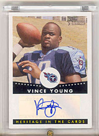 Vince Young 2006 Topps Heritage Football Autographed Card HCA-VY