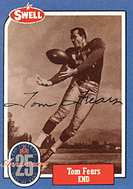 Tom Fears Autographed 1988 Swell Hall of Fame Football Card