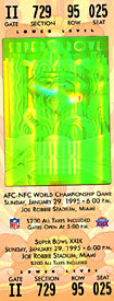 Super Bowl 29 Commemorative Ticket January 29 1995