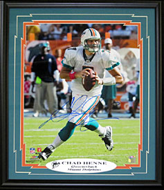 Chad Henne Autographed / Signed Framed 16x20 Photo